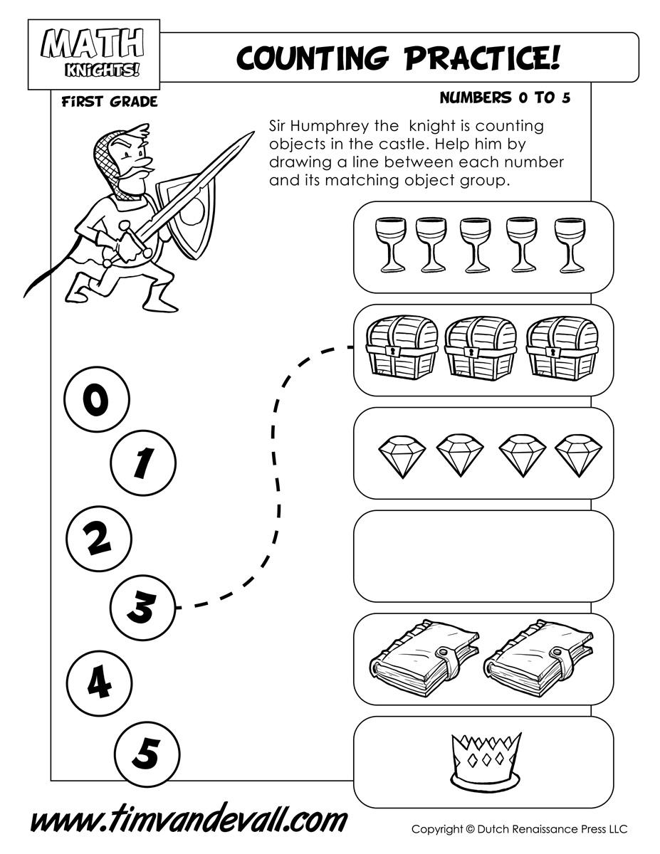 Counting-Worksheet-1-1-C-Printable - Tim's Printables [ 1200 x 927 Pixel ]