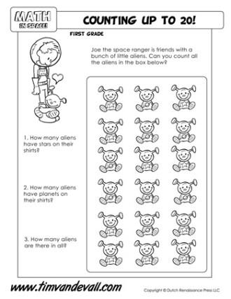 space math worksheet