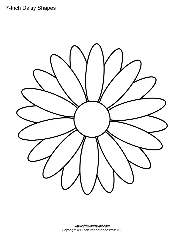 6 Petals Flowers Templates Printables