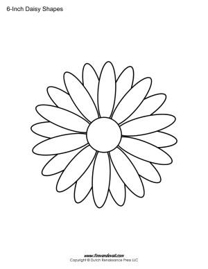 Daisy shape stencil
