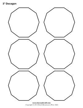Printable Decagon Templates