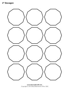 Printable Decagon Outline