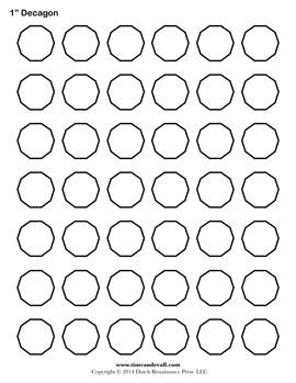 Blank Decagon Template