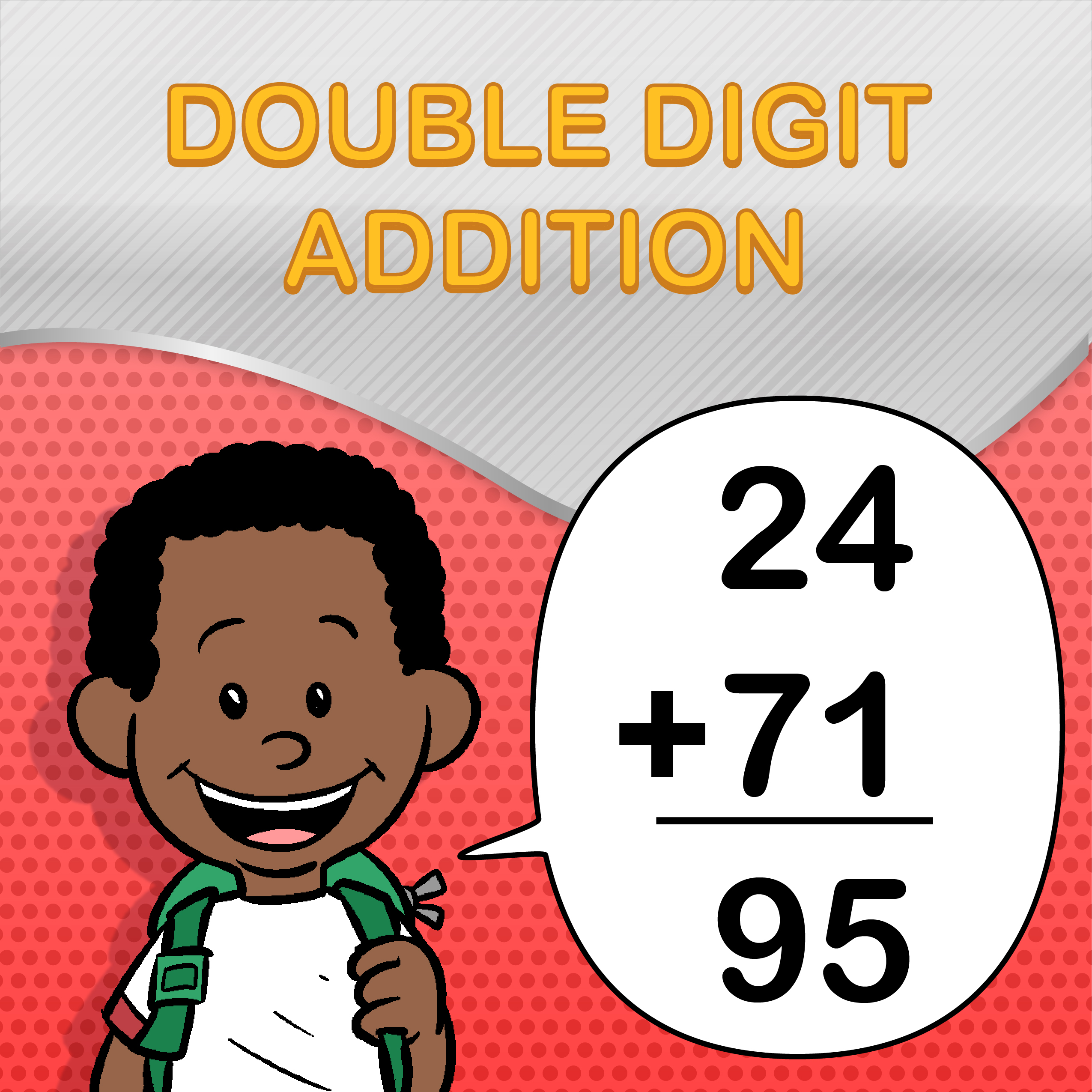 Double Digit Addition Worksheets for Kids   Printable PDFs [ 2550 x 2550 Pixel ]
