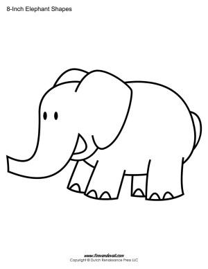 Elephant Templates / Elephant Shape Printables