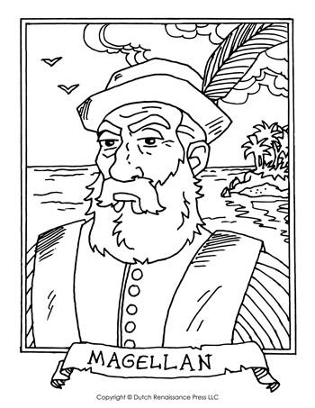 Ferdinand Magellan Coloring Page