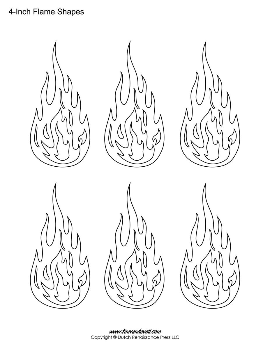 Flame Template Printable