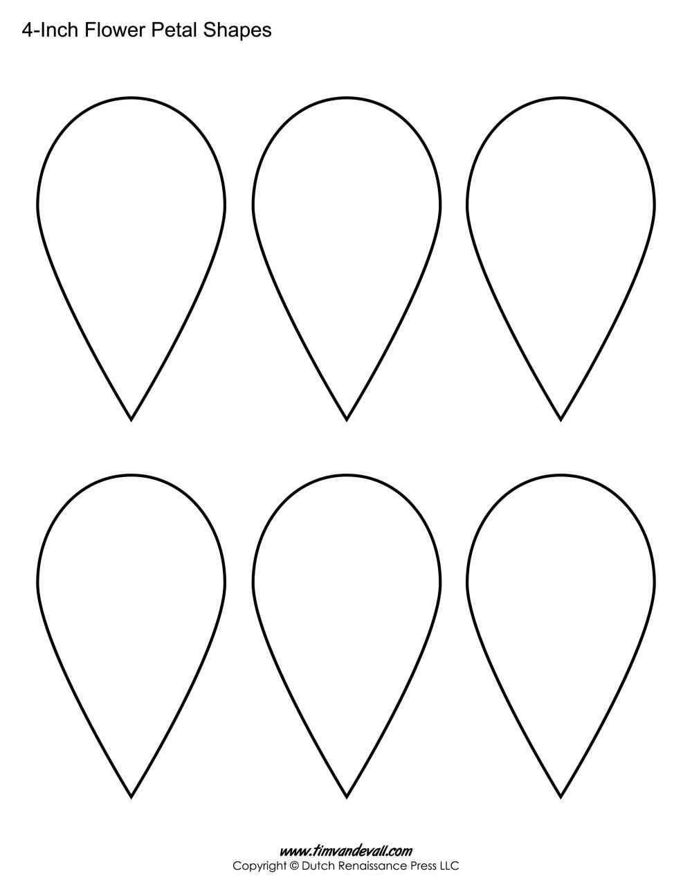 medium resolution of 3 inch flower petal printables flower petal printable sheet