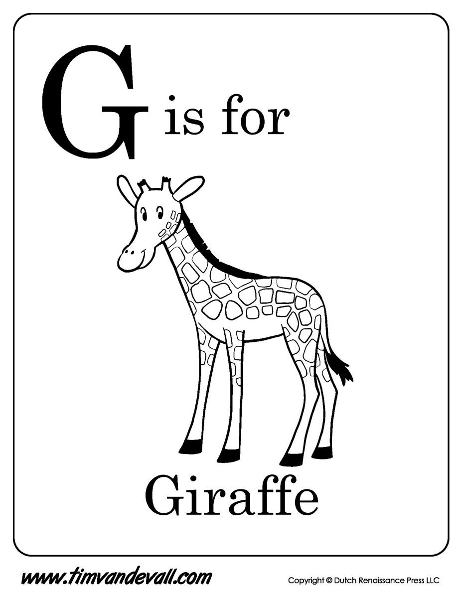 G-is-for-Giraffe-Printable - Tim's Printables