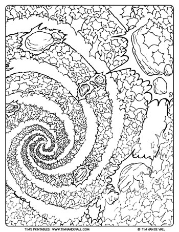 Galaxy Coloring Page for Adults - Tim's Printables