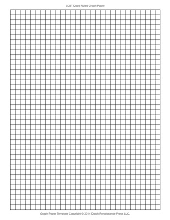 Printable Graph Paper - 0.25 Inch