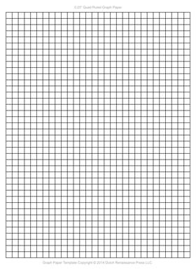 Graph Paper Template, 1/4 Inch Letter PDF