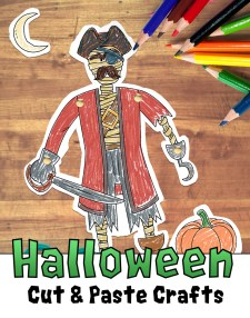Halloween Cut and Paste Craft