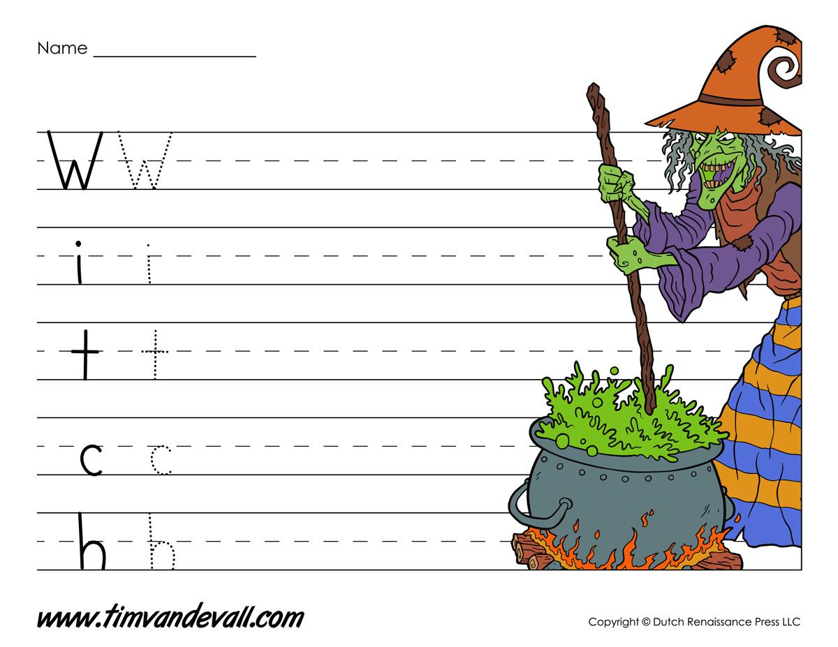 Printable Halloween Writing Paper Tim S Printables