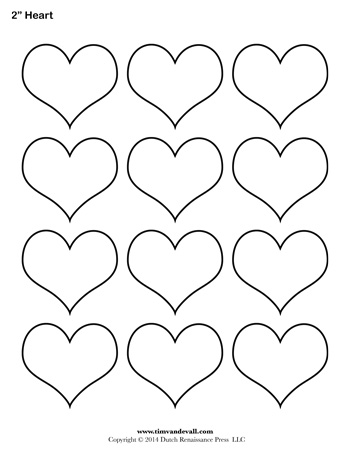 Heart Template 2 Inch