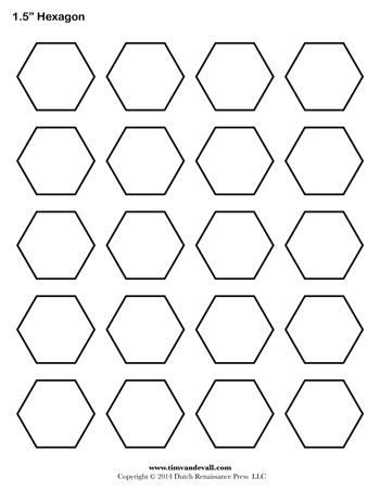hexagon template 1 5 inch tim s printables