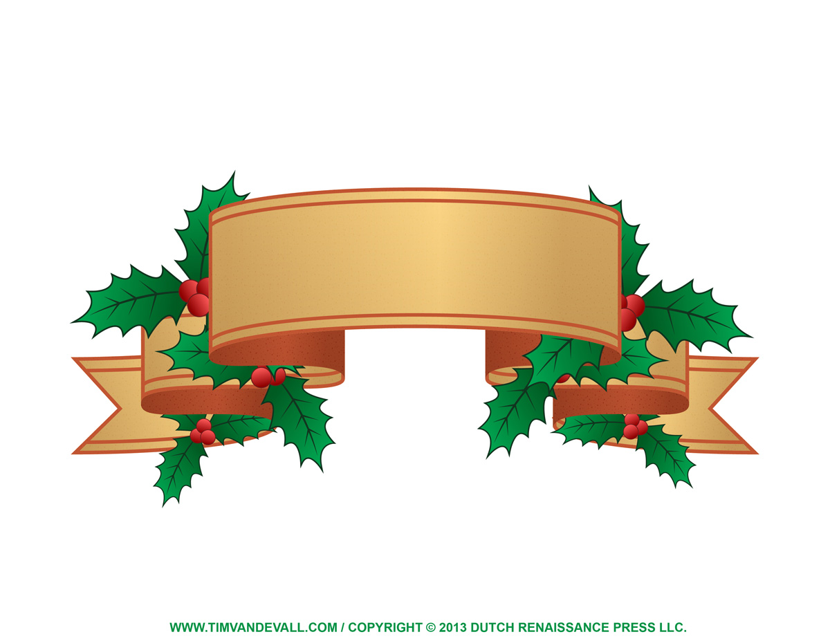 Christmas Label Clip Art