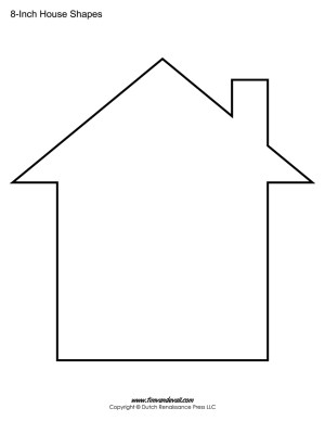 House Templates / House Shape Printables