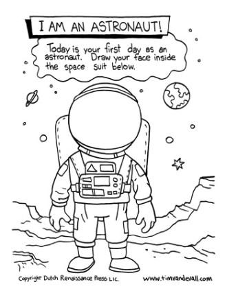 astronaut template
