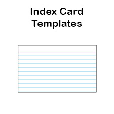 printable index card template