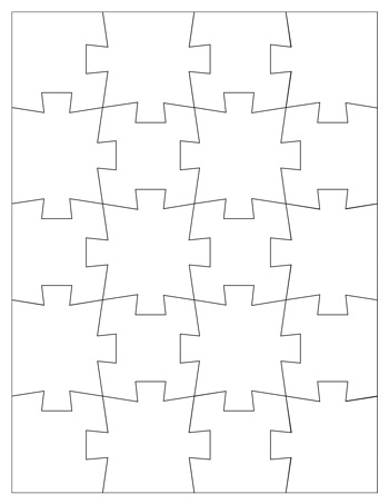 graphic about Printable Puzzle Template called 8 piece jigsaw puzzle template -