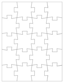 Jigsaw Puzzle Template - 20 Pieces
