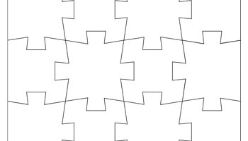 jigsaw puzzle template 12 pieces tim s printables