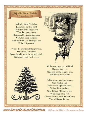 Jolly Old Saint Nicholas Lyrics Tims Printables