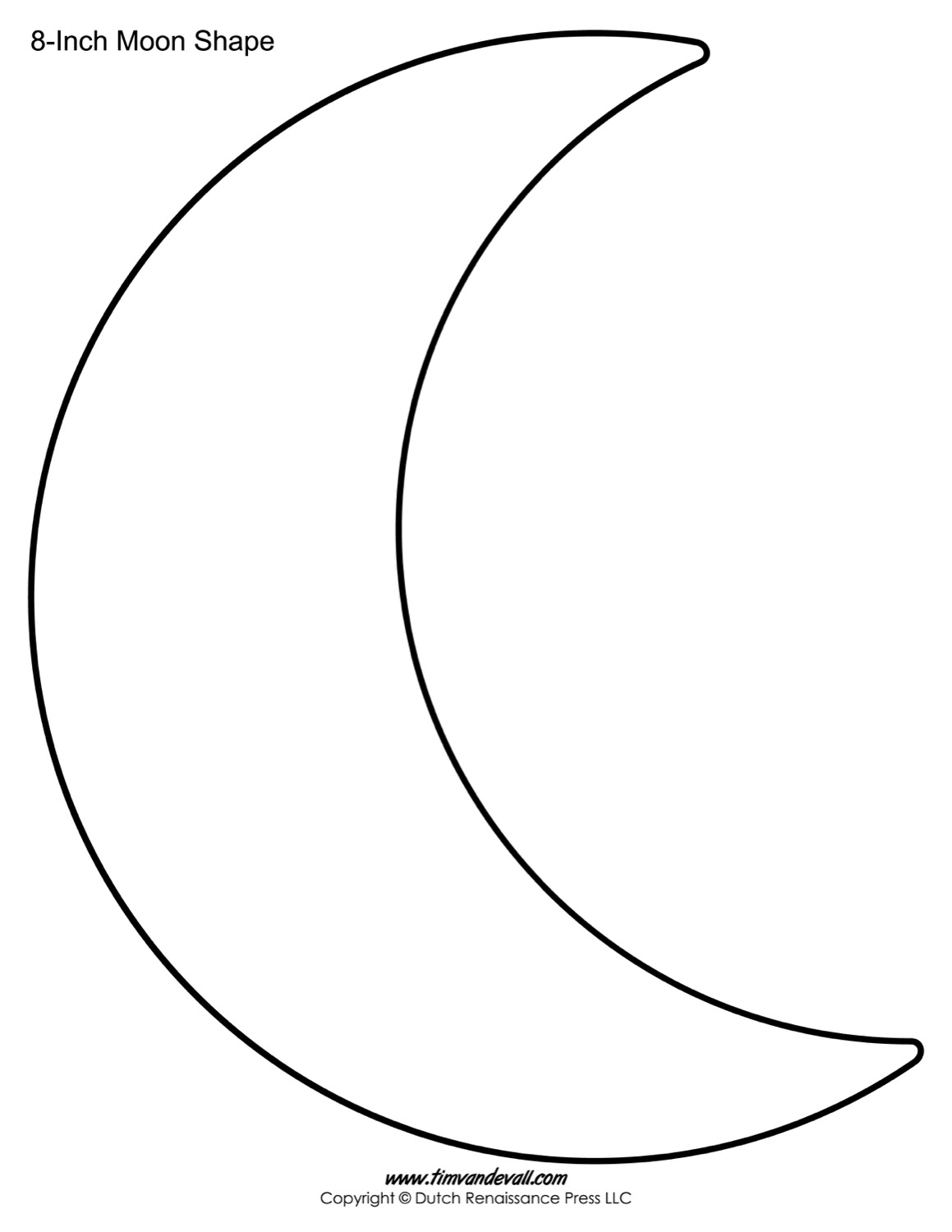 Crescent Shape Worksheet For Preschool