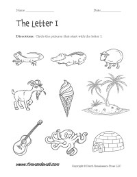 Letter I Worksheets | Preschool Alphabet Printables