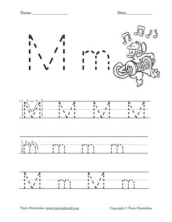Letter M Worksheet