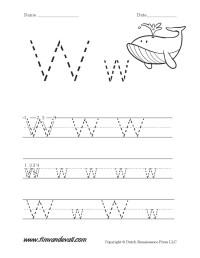 Letter W Worksheet - Tim's Printables
