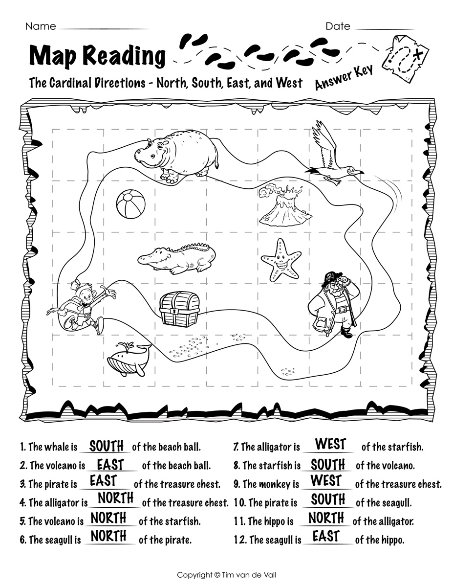Map-Reading-Worksheet-01-Answer-Key - Tim's Printables