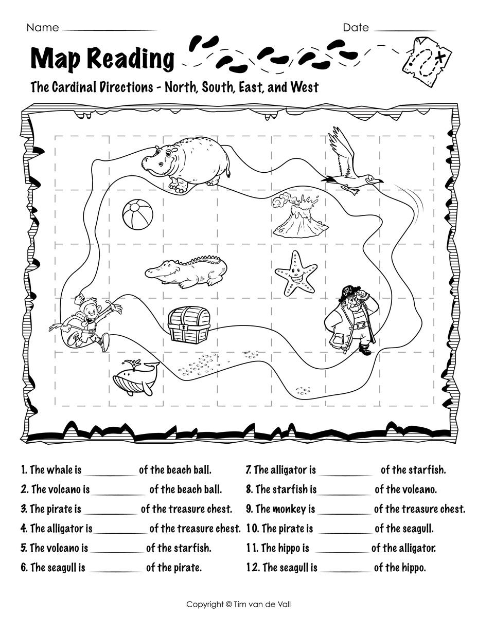 34 Reading A Map Worksheet - Worksheet Resource Plans [ 1200 x 927 Pixel ]