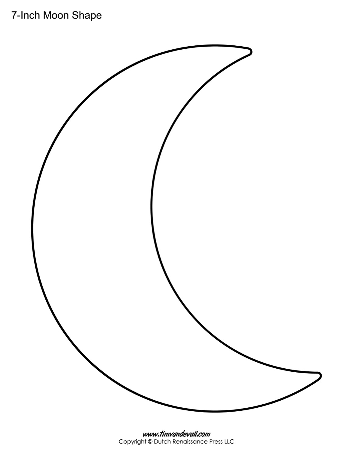 Crescent Shape Activity Worksheet
