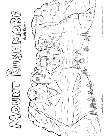 Mount Rushmore Coloring Page Tim S Printables