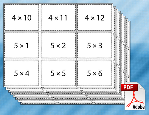 Candid image in free printable multiplication flash cards pdf