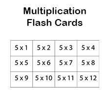 This is a photo of Légend Printable Multiplication Flash Cards 0-12