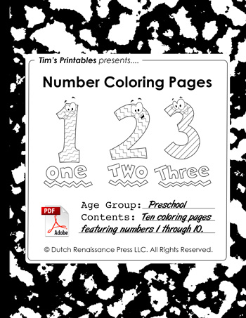 Numbers Coloring Booklet