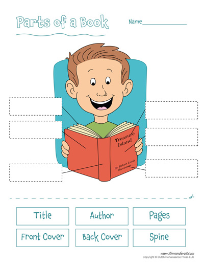 Free Printable Parts Of A Book Worksheet For Kids