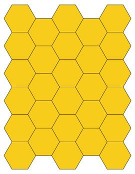 yellow hexagon shapes