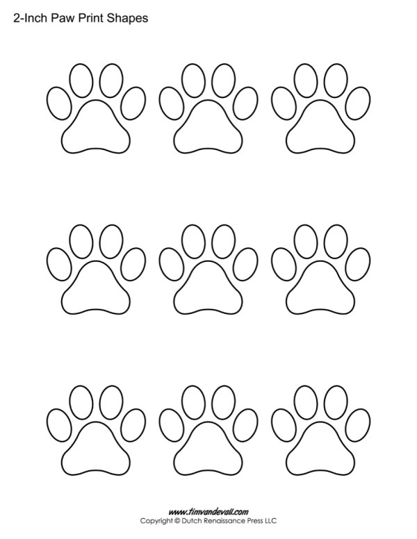 20+ Paw Print Coloring Sheet Ideas and Designs
