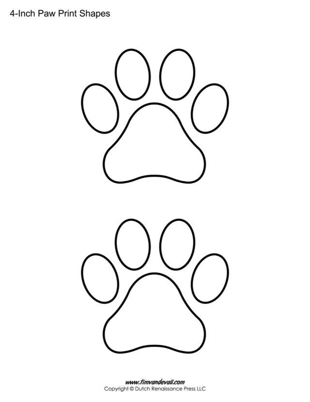Printable Paw Print Letters | Ownerletter co