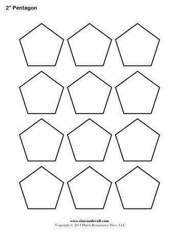 Pentagon Template - 2 Inch - Tim's Printables