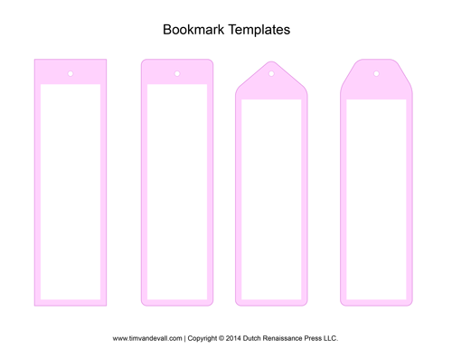 pink bookmark template