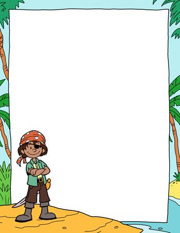 pirate paper template