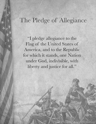 Words to the Pledge of Allegiance