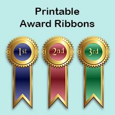 printable award ribbons