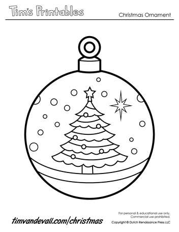 printable christmas ornament