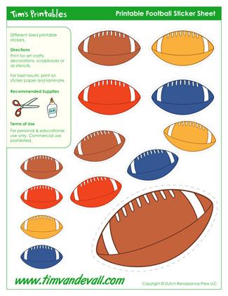 Printable Football Shapes / Football Templates